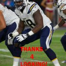TYREEK BURWELL 2015 SAN DIEGO CHARGERS FOOTBALL CARD