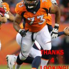MAX GARCIA 2015 DENVER BRONCOS FOOTBALL CARD