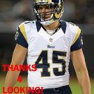 ZACH LASKEY 2015 ST. LOUIS RAMS FOOTBALL CARD