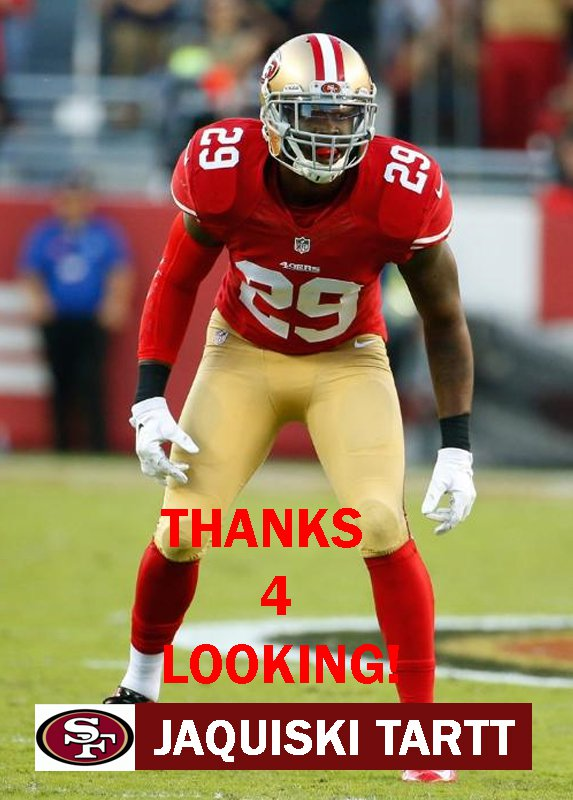 JAQUISKI TARTT 2015 SAN FRANCISCO 49ERS FOOTBALL CARD