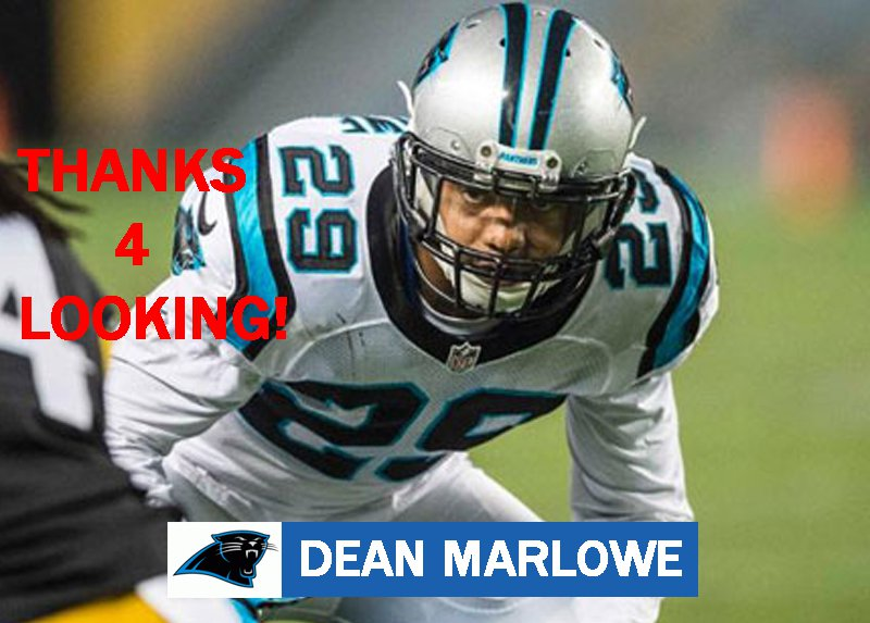 DEAN MARLOWE 2015 CAROLINA PANTHERS FOOTBALL CARD