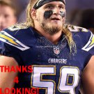 BROCK HEKKING 2015 SAN DIEGO CHARGERS FOOTBALL CARD