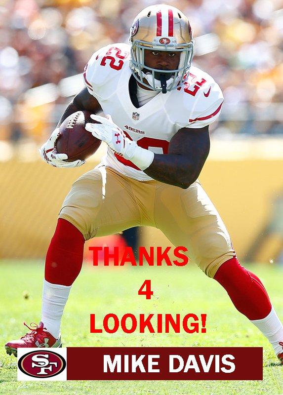 MIKE DAVIS 2015 SAN FRANCISCO 49ERS FOOTBALL CARD