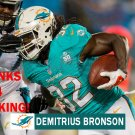 DEMITRIUS BRONSON 2015 MIAMI DOLPHINS FOOTBALL CARD