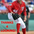 OLIVER PEREZ 2016 WASHINGTON NATIONALS BASEBALL CARD