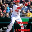 CLINT ROBINSON 2016 WASHINGTON NATIONALS BASEBALL CARD