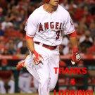 RAFAEL ORTEGA 2016 LOS ANGELES ANGELS  BASEBALL CARD