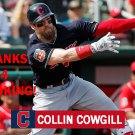 COLLIN COWGILL 2016 CLEVELAND INDIANS BASEBALL CARD