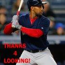 CHRIS YOUNG 2016 BOSTON RED SOX BASEBALL CARD