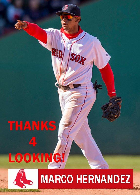 MARCO HERNANDEZ 2016 BOSTON RED SOX BASEBALL CARD