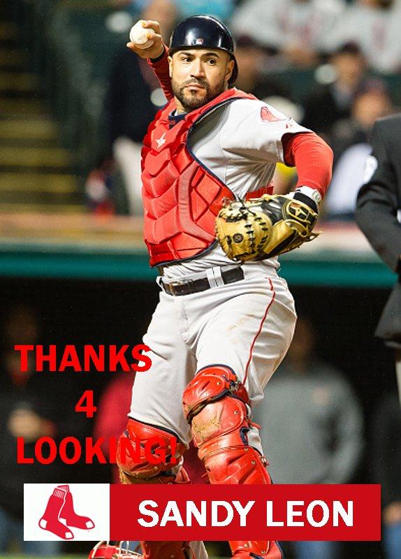 SANDY LEON 2016 BOSTON RED SOX BASEBALL CARD