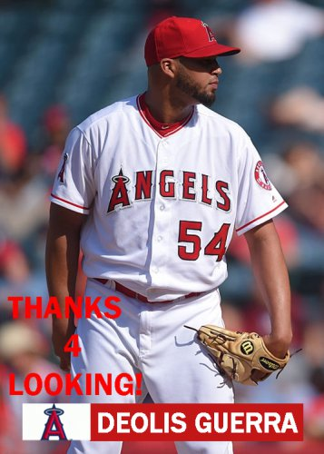 DEOLIS GUERRA 2016 LOS ANGELES ANGELS  BASEBALL CARD