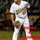 DANIEL COULOMBE 2016 OAKLAND ATHLETICS  BASEBALL CARD