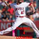 RICKY NOLASCO 2016 LOS ANGELES ANGELS  BASEBALL CARD