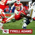 TYRELL ADAMS 2016 KANSAS CITY CHIEFS FOOTBALL CARD