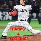 TOSHIYA OKADA 2017 TEAM JAPAN WORLD BASEBALL CLASSIC CARD