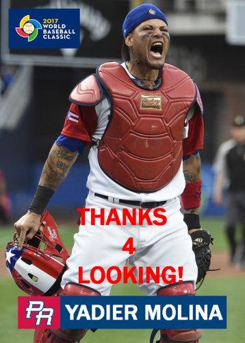 Yadier Molina 2017 Team Puerto Rico World Baseball Classic Card