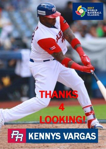 Kennys Vargas 2017 Team Puerto Rico World Baseball Classic Card