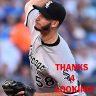 MIGUEL GONZALEZ 2017 CHICAGO WHITE SOX BASEBALL CARD