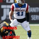 TYREE HOLLINS 2016 MONTREAL ALOUETTES CFL FOOTBALL CARD