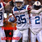 GREG HENDERSON 2016 MONTREAL ALOUETTES CFL FOOTBALL CARD