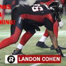 LANDON COHEN 2016 OTTAWA REDBLACKS  CFL FOOTBALL CARD