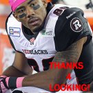ONREA JONES 2014 OTTAWA REDBLACKS  CFL FOOTBALL CARD