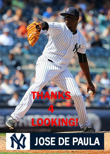 JOSE De PAULA 2015 NEW YORK YANKEES BASEBALL CARD