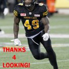 LARRY DEAN 2017 HAMILTON TIGER-CATS  CFL FOOTBALL CARD