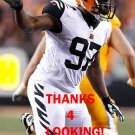 GENO ATKINS 2016 CINCINNATI BENGALS COLOR RUSH FOOTBALL CARD