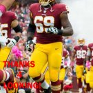 T.J. CLEMMINGS 2017 WASHINGTON REDSKINS FOOTBALL CARD