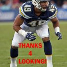 JAMES ONWUALU 2017 LOS ANGELES CHARGERS FOOTBALL CARD