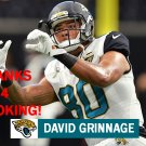 DAVID GRINNAGE 2017 JACKSONVILLE JAGUARS FOOTBALL CARD
