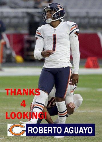 ROBERTO AGUAYO 2017 CHICAGO BEARS FOOTBALL CARD