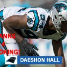 DAESHON HALL 2017 CAROLINA PANTHERS FOOTBALL CARD