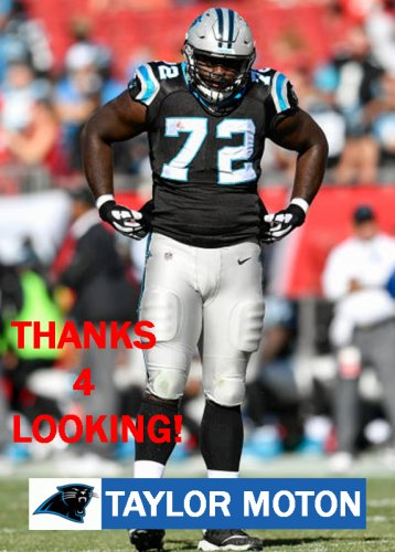 TAYLOR MOTON 2017 CAROLINA PANTHERS FOOTBALL CARD