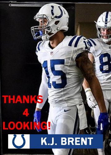 buy popular 8490a 66866 K.J. BRENT 2017 INDIANAPOLIS COLTS FOOTBALL CARD