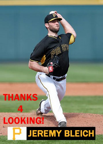 Jeremy Bleich 2015 Pittsburgh Pirates Baseball Card