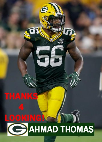 sale retailer 31a8a a12be AHMAD THOMAS 2018 GREEN BAY PACKERS FOOTBALL CARD
