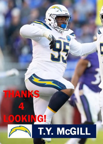 online retailer 35222 b7981 T.Y. McGILL 2018 LOS ANGELES CHARGERS FOOTBALL CARD