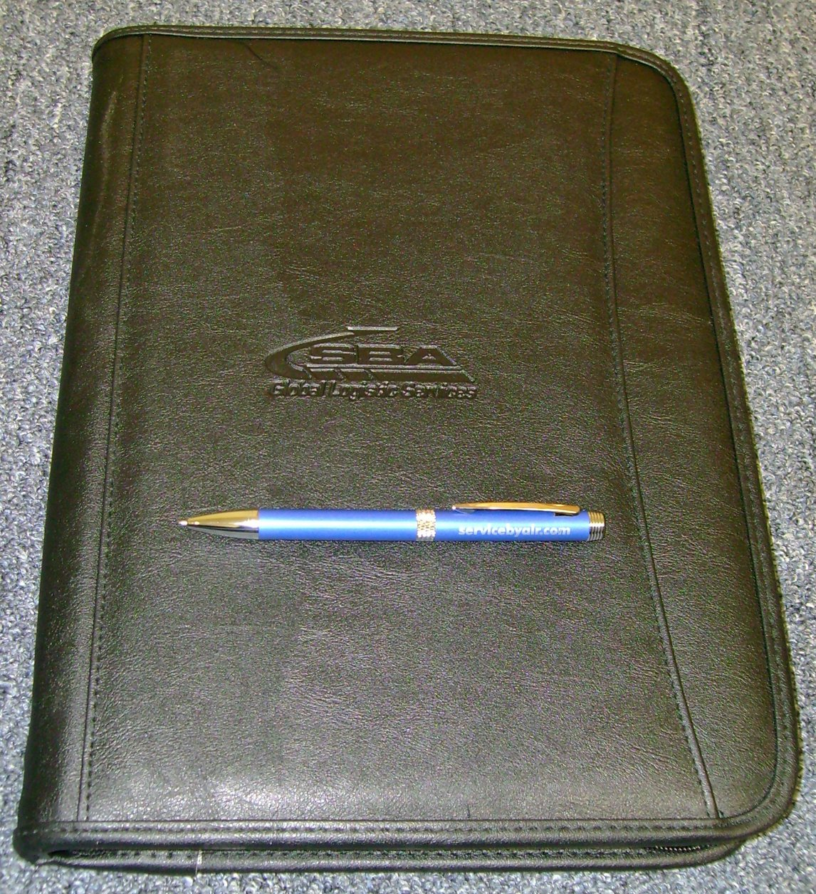 Durahyde Zippered Padfolio w/ SBA Engraved Pen