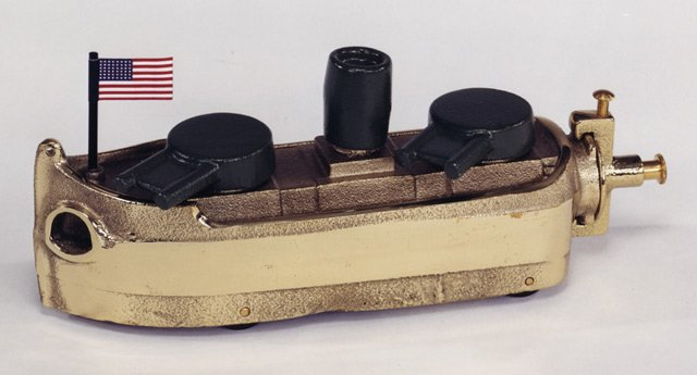 NAVY GUN BOAT YELLOW BRASS 9BY - $219.95 - FREE SHIPPING - DISCOUNT GIFTS ONLINE