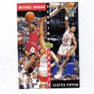 MICHAEL JORDAN / SCOTTIE PIPPEN 92-93 UPPER DECK SCORING THREATS #62