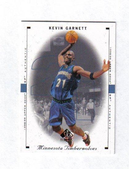 KEVIN GARNETT 98-99 SP AUTHENTIC #53