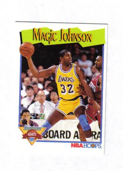 MAGIC JOHNSON 91-92 HOOPS MILESTONE #316