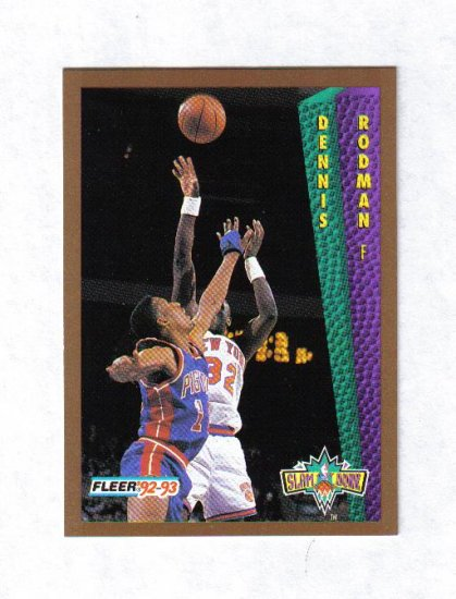 DENNIS RODMAN 92-93 FLEER SLAM DUNK #289