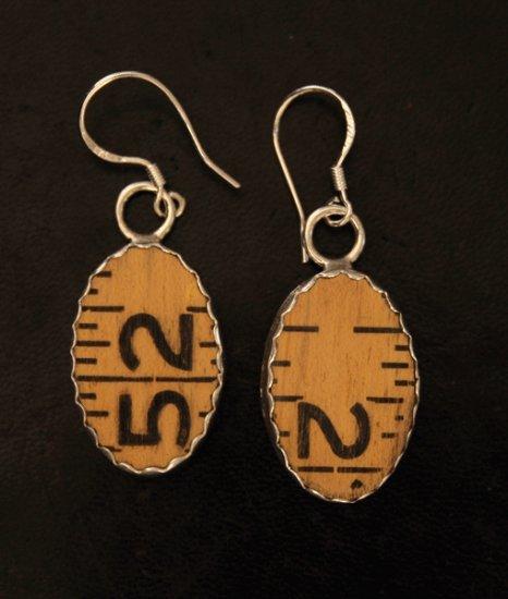 Style RU1 Carpenter's Ruler earrings