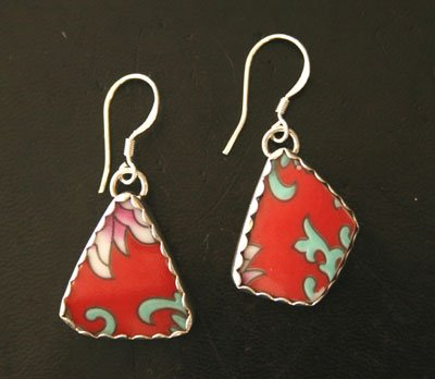 Style EP2  Chinese Soup Bowl Earrings
