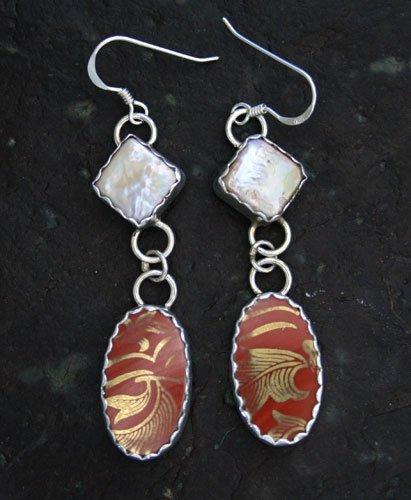 Earrings Style: EP8, Imari and Fresh Water Pearl Earrings