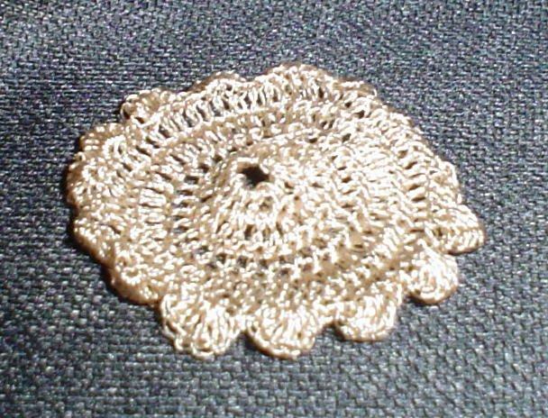 Crocheted Miniature Doily for dollhouse